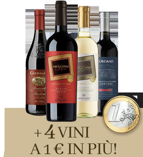 4 vino a 1€ Giordano Vini