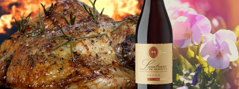 Lambrusco e Pollo arrosto