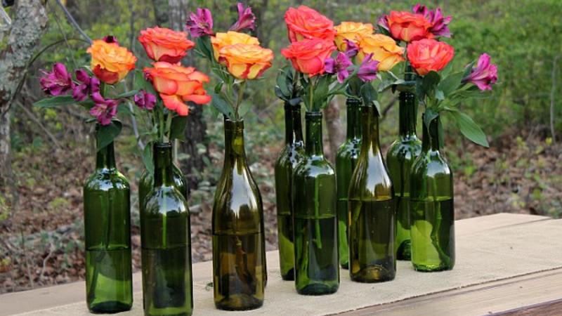 Pareti Con Bottiglie Di Vetro : Idee per il riciclo creativo delle bottiglie giordano vini